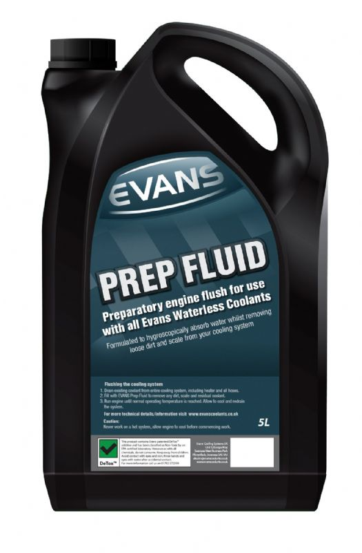 Evans Waterless Engine Coolant Prep Preparation Fluid Water Removal 5lires